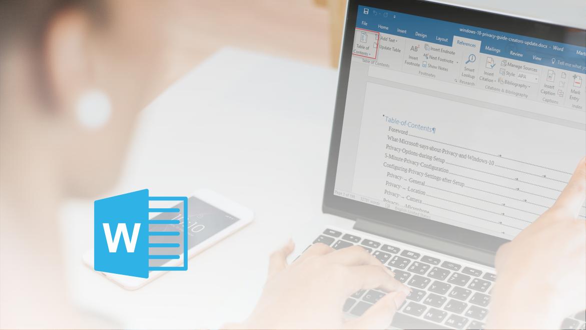 Microsoft Office Word - Izdelava kazala vsebine - članek